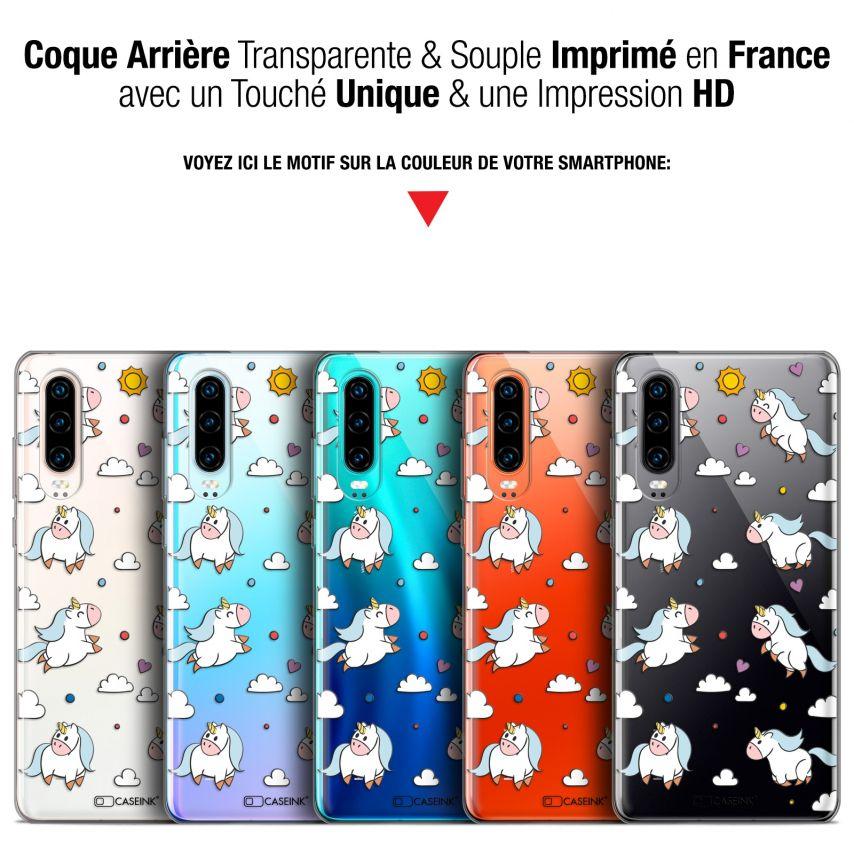 "Coque Gel Huawei P30 (6.1"") Extra Fine Fantasia - Licorne In the Sky"