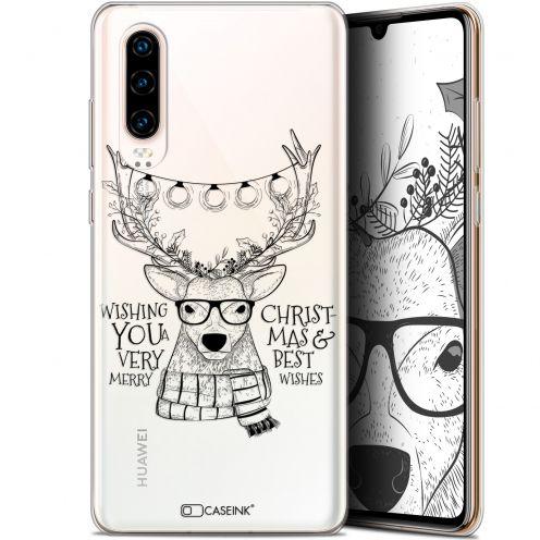 "Coque Gel Huawei P30 (6.1"") Extra Fine Noël 2017 - Cerf Hipster"