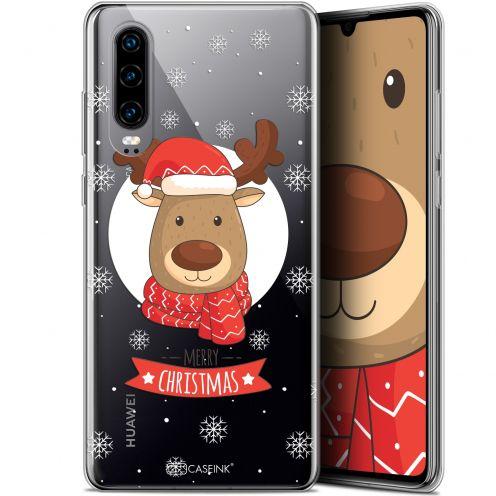 """Coque Gel Huawei P30 (6.1"""") Extra Fine Noël 2017 - Cerf à Echarpe"""