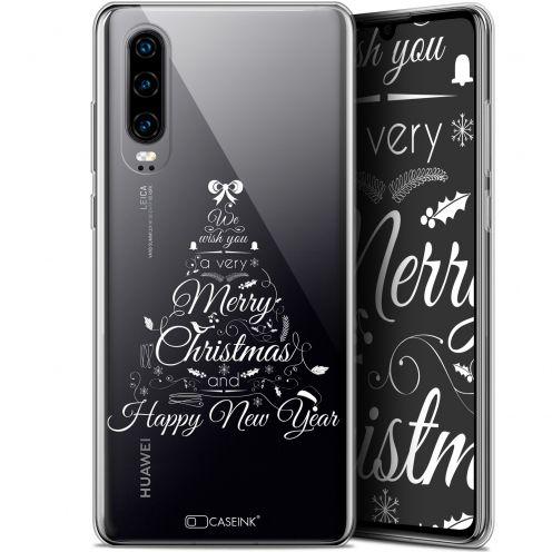 "Coque Gel Huawei P30 (6.1"") Extra Fine Noël 2017 - Calligraphie"