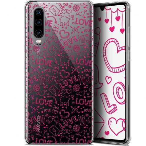 "Coque Gel Huawei P30 (6.1"") Extra Fine Love - Doodle"