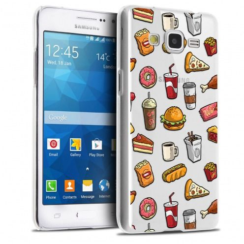 Coque Crystal Galaxy Grand Prime Extra Fine Foodie - Fast Food
