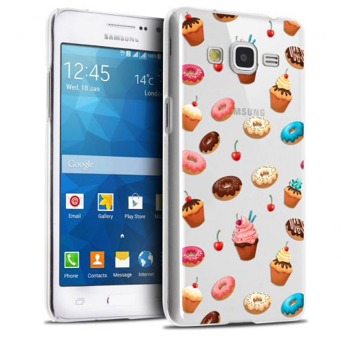 Coque Crystal Galaxy Grand Prime Extra Fine Foodie - Donuts