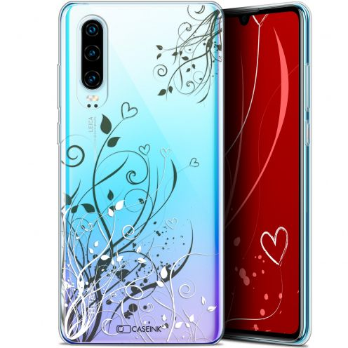 "Coque Gel Huawei P30 (6.1"") Extra Fine Love - Hearts Flowers"