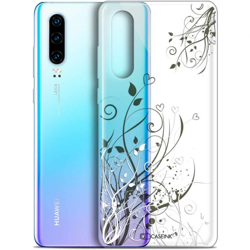 """Coque Gel Huawei P30 (6.1"""") Extra Fine Love - Hearts Flowers"""