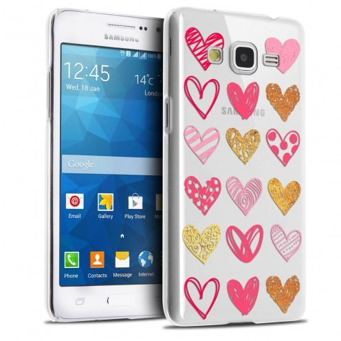 Coque Crystal Galaxy Grand Prime Extra Fine Sweetie - Doodling Hearts