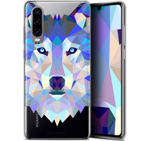 "Coque Gel Huawei P30 (6.1"") Extra Fine Polygon Animals - Loup"