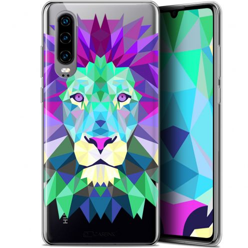 "Coque Gel Huawei P30 (6.1"") Extra Fine Polygon Animals - Lion"