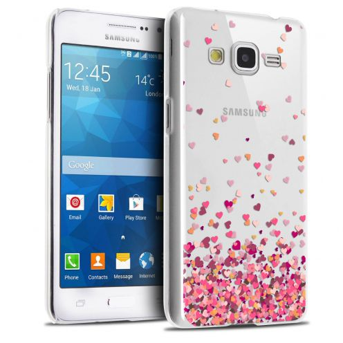 Coque Crystal Galaxy Grand Prime Extra Fine Sweetie - Heart Flakes