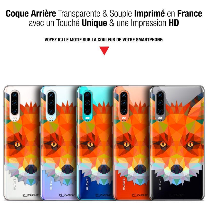 "Coque Gel Huawei P30 (6.1"") Extra Fine Polygon Animals - Renard"