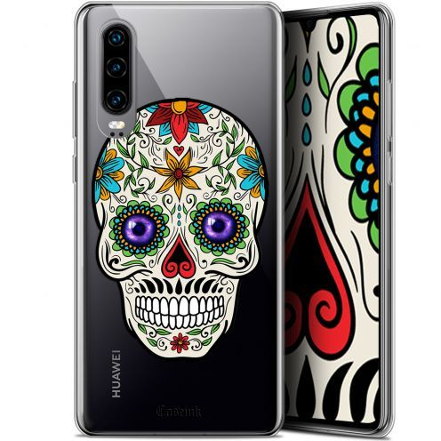 "Coque Gel Huawei P30 (6.1"") Extra Fine Skull - Maria's Flower"