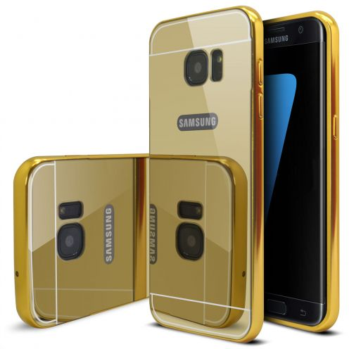 Bumper Samsung Galaxy S7 Edge Glass Mirror Aluminium Or