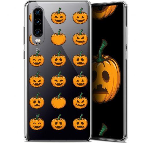 "Coque Gel Huawei P30 (6.1"") Extra Fine Halloween - Smiley Citrouille"