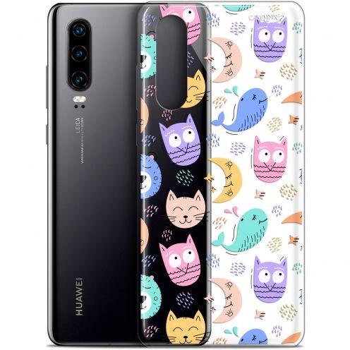 "Coque Gel Huawei P30 (6.1"") Extra Fine Motif - Chat Hibou"
