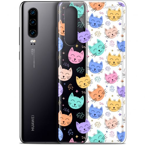 "Coque Gel Huawei P30 (6.1"") Extra Fine Motif -  Chat Dormant"