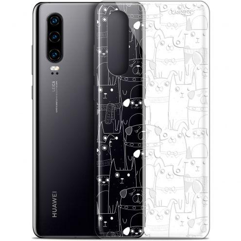 "Coque Gel Huawei P30 (6.1"") Extra Fine Motif - Chien Blanc"