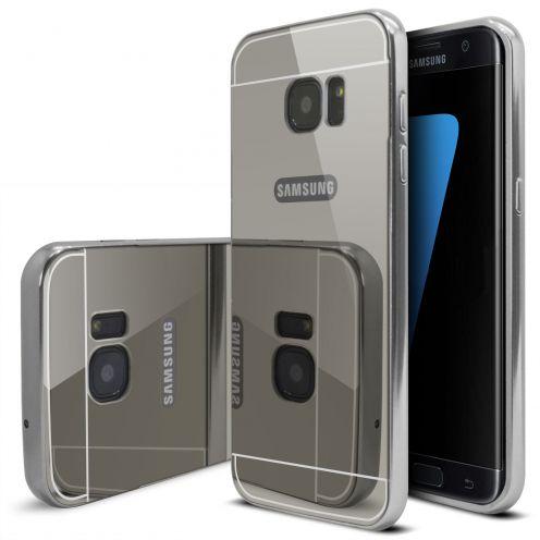 Bumper Samsung Galaxy S7 Edge Glass Mirror Aluminium Argent