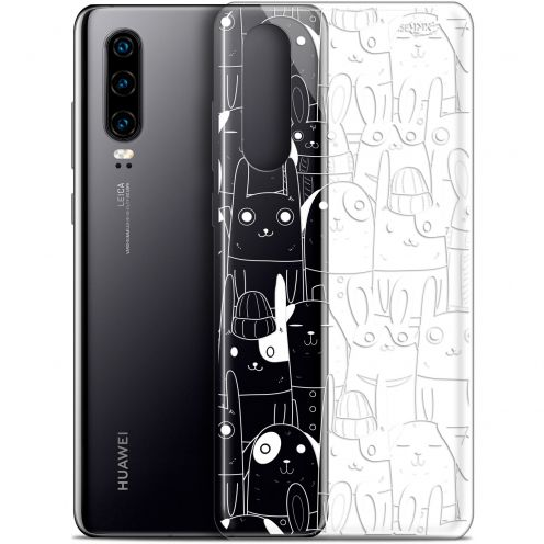 """Coque Gel Huawei P30 (6.1"""") Extra Fine Motif - Lapin Blanc"""