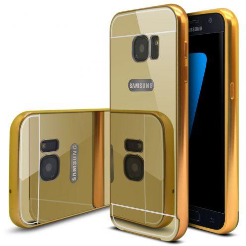 Bumper Samsung Galaxy S7 Glass Mirror Aluminium Or
