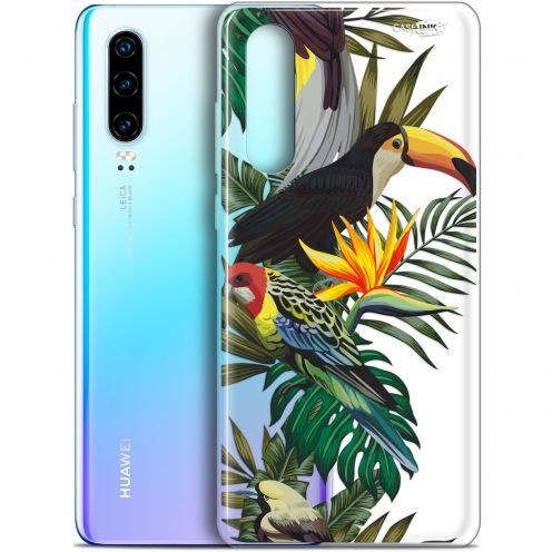 "Coque Gel Huawei P30 (6.1"") Extra Fine Motif -  Toucan Tropical"