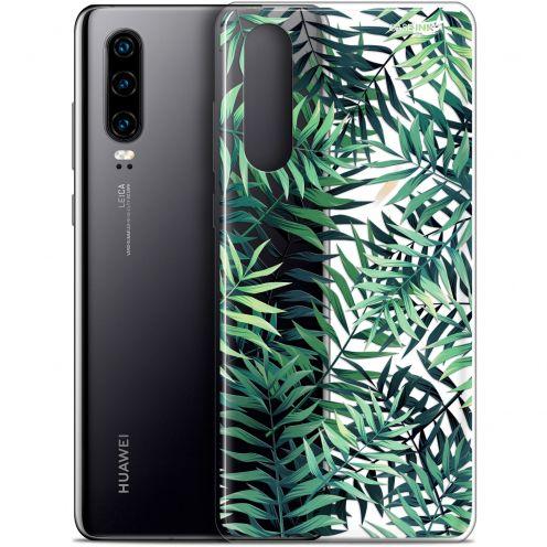 "Coque Gel Huawei P30 (6.1"") Extra Fine Motif - Feuilles des Tropiques"
