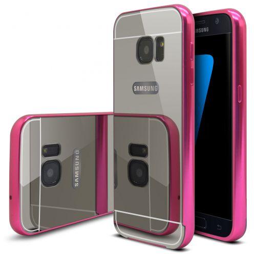 Bumper Samsung Galaxy S7 Glass Mirror Aluminium Rose