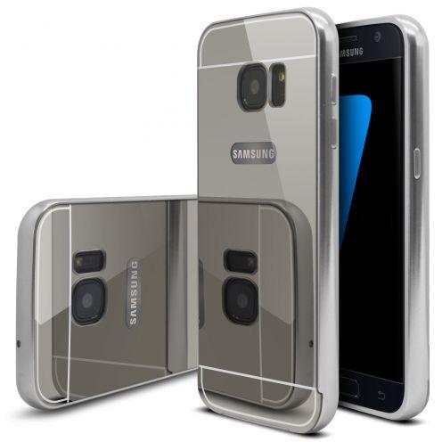 Bumper Samsung Galaxy S7 Glass Mirror Aluminium Argent