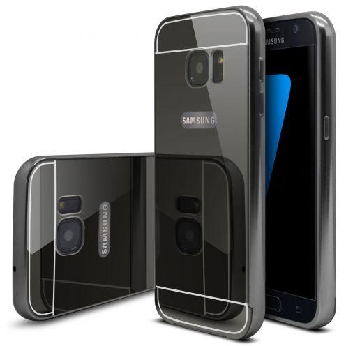 Bumper Samsung Galaxy S7 Glass Mirror Aluminium Noir