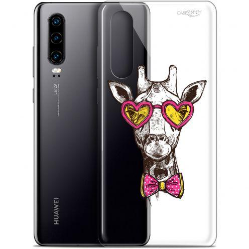 "Coque Gel Huawei P30 (6.1"") Extra Fine Motif -  Hipster Giraffe"