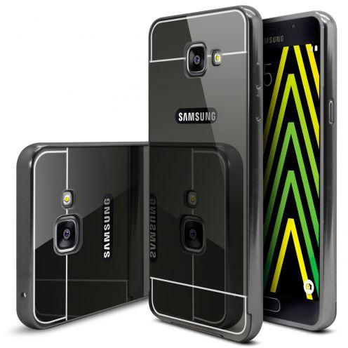 Bumper Samsung Galaxy A5 2016 (A510) Glass Mirror Aluminium Noir
