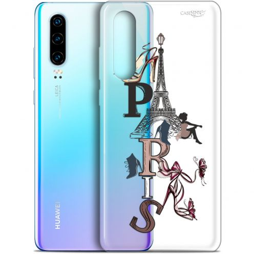 "Coque Gel Huawei P30 (6.1"") Extra Fine Motif -  Stylish Paris"