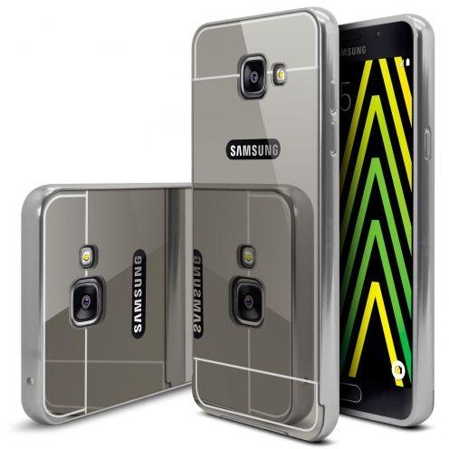 Bumper Samsung Galaxy A5 2016 (A510) Glass Mirror Aluminium Argent