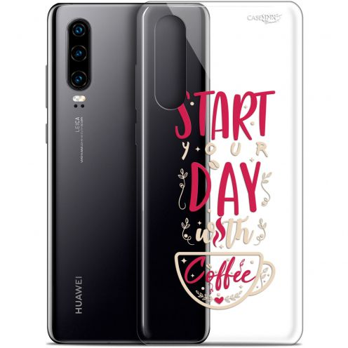 "Coque Gel Huawei P30 (6.1"") Extra Fine Motif -  Start With Coffee"