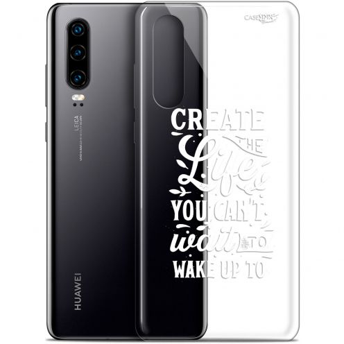 "Coque Gel Huawei P30 (6.1"") Extra Fine Motif -  Wake Up Your Life"