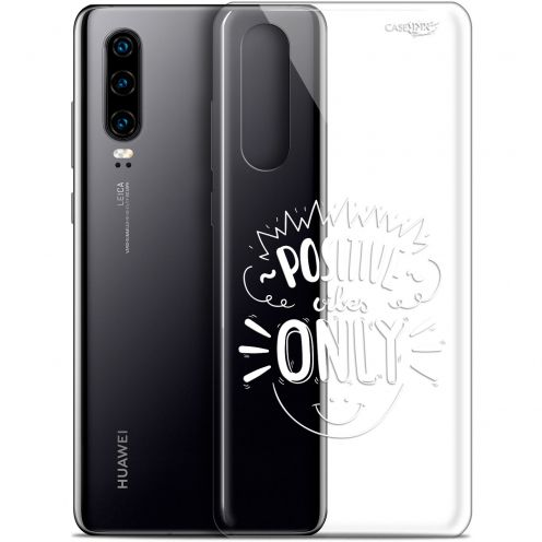 """Coque Gel Huawei P30 (6.1"""") Extra Fine Motif -  Positive Vibes Only"""