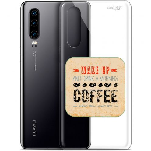 "Coque Gel Huawei P30 (6.1"") Extra Fine Motif - Wake Up With Coffee"