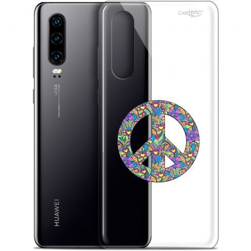 "Coque Gel Huawei P30 (6.1"") Extra Fine Motif -  Peace And Love"