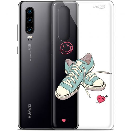 """Coque Gel Huawei P30 (6.1"""") Extra Fine Motif -  Mes Sneakers d'Amour"""