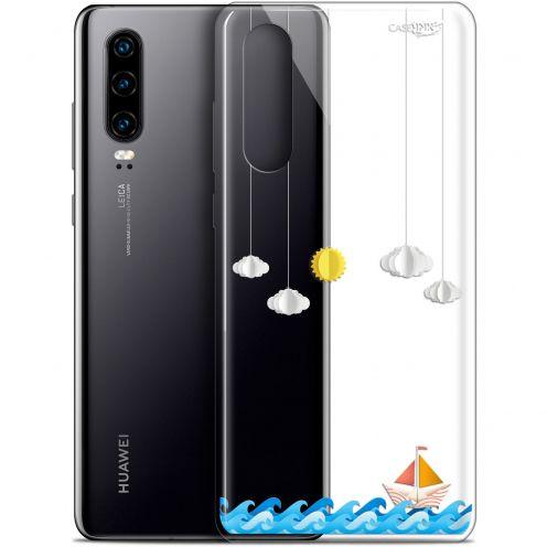 "Coque Gel Huawei P30 (6.1"") Extra Fine Motif - Petit Bateau en Mer"