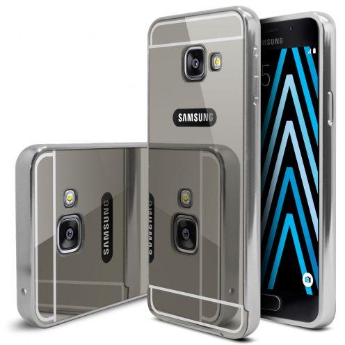 Bumper Samsung Galaxy A3 2016 (A310) Glass Mirror Aluminium Argent
