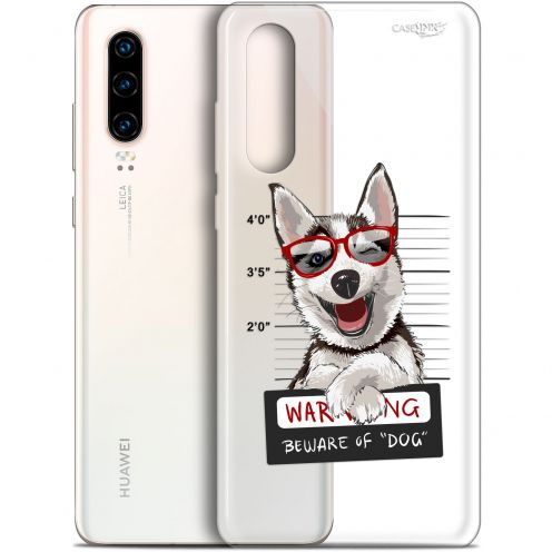 "Coque Gel Huawei P30 (6.1"") Extra Fine Motif - Beware The Husky Dog"