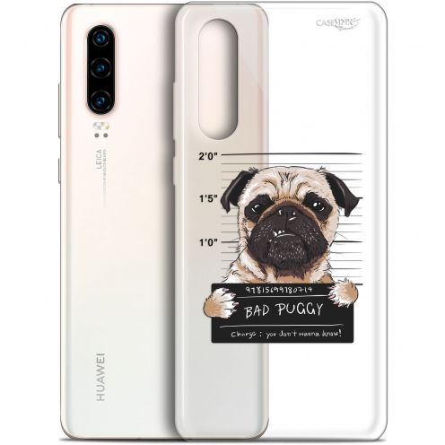 "Coque Gel Huawei P30 (6.1"") Extra Fine Motif -  Beware The Puggy Dog"