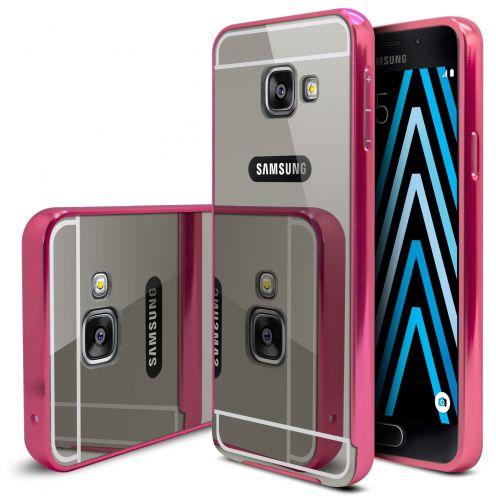 Bumper Samsung Galaxy A3 2016 (A310) Glass Mirror Aluminium Rose