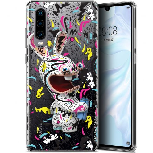 "Coque Gel Huawei P30 (6.1"") Extra Fine Lapins Crétins™ - Tag"
