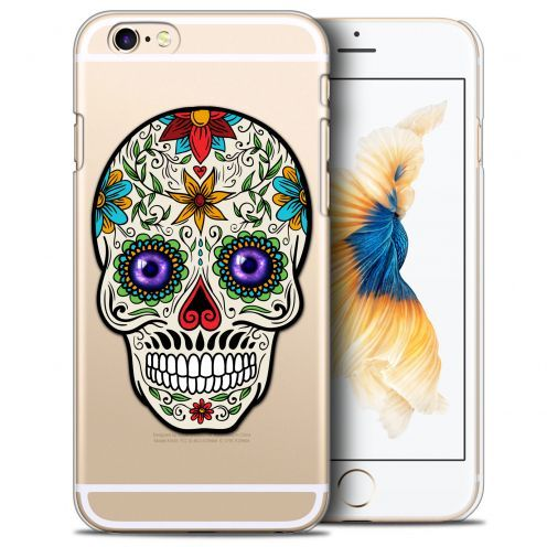 Coque Crystal iPhone 6/6s (4.7) Extra Fine Skull - Maria's Flower