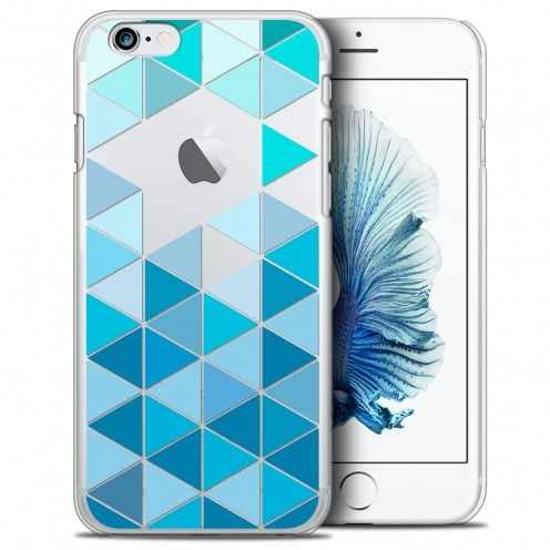 Coque Crystal iPhone 6/6s Plus (5.5) Extra Fine Spring - Blue Triangles