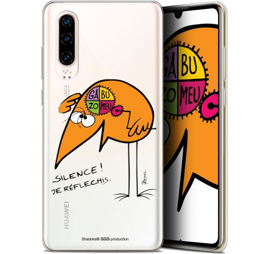 "Coque Gel Huawei P30 (6.1"") Extra Fine Les Shadoks® - Silence !"