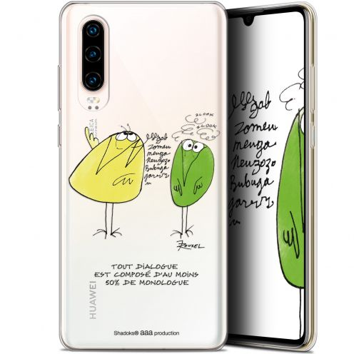 "Coque Gel Huawei P30 (6.1"") Extra Fine Les Shadoks® - Le Dialogue"