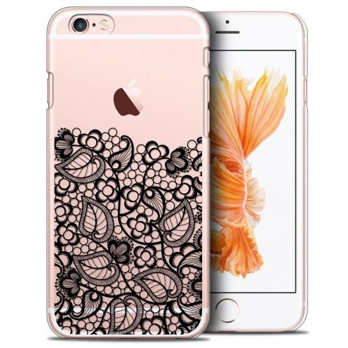 Coque Crystal iPhone 6/6s Plus (5.5) Extra Fine Spring - Bas dentelle Noir