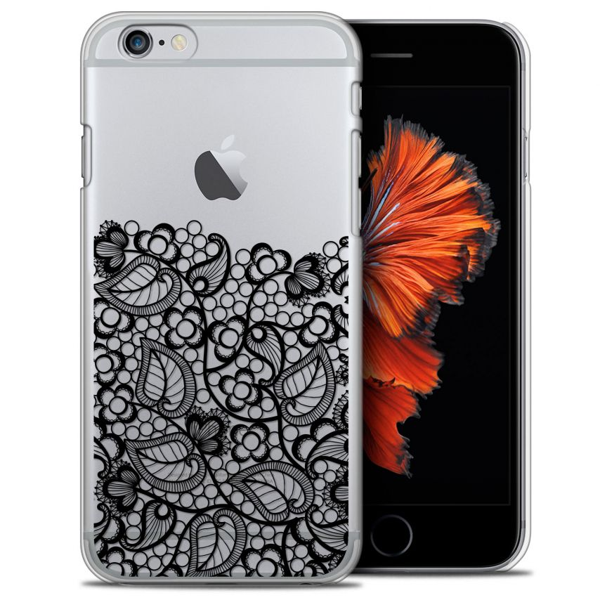 Coque Crystal iPhone 6/6s Plus (5.5) Extra Fine Spring - Bas dentelle Noir